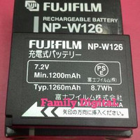 BATTERY FUJIFILM NP-W126 FOR FUJI X-Pro 1/XT1/XE1/XE2/XM1/HS30 EXR/ H