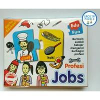 Puzzle Kartu Edukasi Edu Fun Profesi Jobs,mainan Edukatif Edukasi Anak