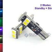 Spextrum LED Lampu Senja STROBO Blitz T10 5050 6 Mata 12V 1.5W 2 Mode