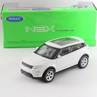 Diecast welly nex 1:60 Range rover evoque putih / silver