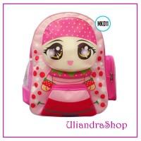 Tas Sekolah Ransel Anak SD Bag Backpack Moslem Kids Strawbery Jilbab