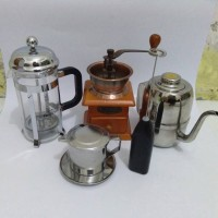 Jual Paket Olive Kettle,Vietnam Drip,Frother,Grinder,French Press Murah
