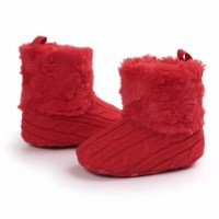 harga Prewalker Sepatu Anak Bayi Red Fluffy Merah Bulu Rajut Tokopedia.com
