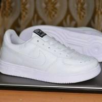 Sepatu Sport Nike Force One Full White Putih / Casual Sneakers Cewek