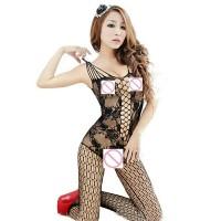 Lingerie Sexy Full Body Stocking Hitam BEL-063