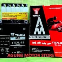AKI YUASA MF Kering YTX7L-BS (12V, 6 Ampere)