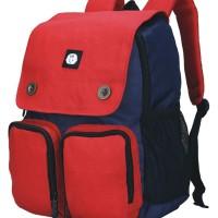 Jual 006CST, tas sekolah/ransel/backpack anak, bahan canvas + raincover Murah