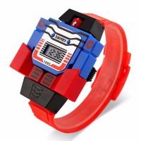 Jam Tangan Anak Robot Skmei Robot Original Merah