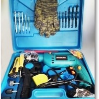 Mesin Bor Tembok & Besi 1 Set + Box / Alat Tukang Pertukangan