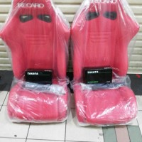 ready paket murah jok racing recaro sr6 merah with seatbelt takata