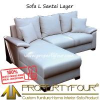 Jual Sofa Kursi tamu model L Sudut Layer Murah