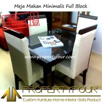 Meja Makan Minimalis full block 4 kursi full bungkus