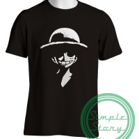 Jual Kaos Anime One Piece Luffy Straw Hat Murah