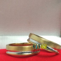 cincin kawin couple emas kuning R2653