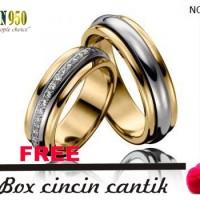 cincin nikah kawin couple emas kuning s416