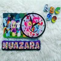 jam dinding anak karakter tema little pony/bikin nama