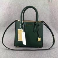 Original michael kors green mercer medium leather bag