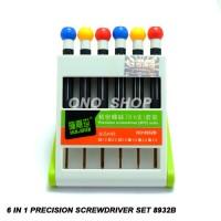 6 In 1 Precision Screwdriver Set 8932B Ready Stock 2017