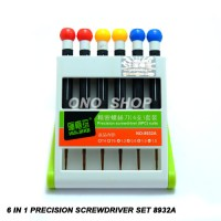 6 In 1 Precision Screwdriver Set 8932A (Obeng Set) Ready Stock 20