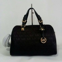 MK Grayson Large Satchel Black