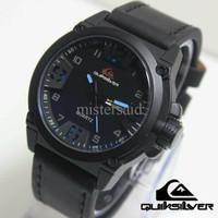 Jam Tangan Pria / Cowok Quiksilver LR552 Leather Black