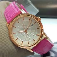 Grosir Jam Tangan Wanita / Cewek Murah DKNY SK811 Leather Pink