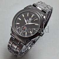 Jam Tangan Rolex Skeleton Automatic Rantai Hitam