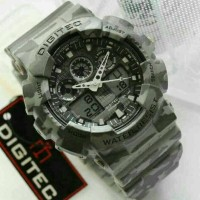 Jam Tangan Digitec Original DG-2072 Grey Army Series