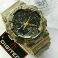 Jam Tangan Digitec Original DG-2072 Brown Army Series