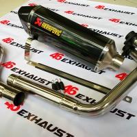 Knalpot Racing Ninja 250 Karbu / FI Z250 Akrapovic Carbon Layang FULLSET