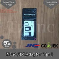Jual 4 in 1 Convert Nano Micro SIM Adapter + Tray Eject Pin Murah