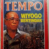 Majalah Tempo lama November 1987 : Gubernur DKI Wiyogo Atmodarminto be