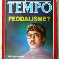 Majalah Tempo lama Januari 1988 : Feodalisme? Cover KGPA Sujiwo Kusumo