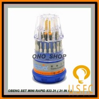 Obeng Set Mini Rapid 833-31 (31 In 1) Ready Stock 2017