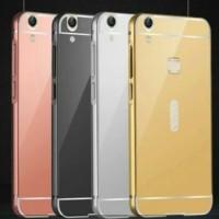 Metal Slide Bumper Mirror Hard Case Cover Casing Keren Vivo V3 5 Inch