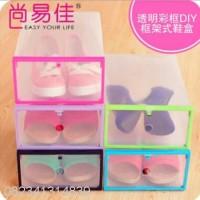 Shoes Box Organizer Kotak Sepatu Serbaguna Multifungsi
