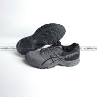 SEPATU BIG SIZE Asics Gel Sonoma 3 G-TX Mens Trail Running Shoes Black