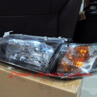 Headlamp Great Corolla AE100 / AE101 1992 - 1996 Black Berkualitas