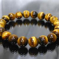 TERBATAS gelang tasbih batu akik tiger eye natural untuk terapi kese