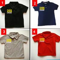 BEST SELLER Kaos Polo anak Turn Back Crime TERMURAH
