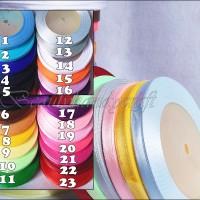 pita saten lebar 0.25 inchi per rol banyak warna