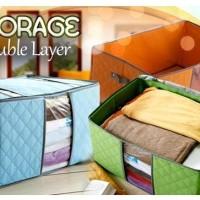 Storage Box Lemari Rak Tempat Pakaian Anti Apek Bahan Dari Serat Bam
