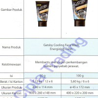 Gatsby - Face Wash - Energizing Fresh 50g (Each) 10