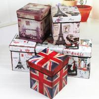 Storage box BUNGA MAWAR/Tempat Mainan / Majalah /kursi organizer