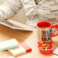 SELF STIRRING MUG GELAS KOPI / COFFE ADUK OTOMATIS