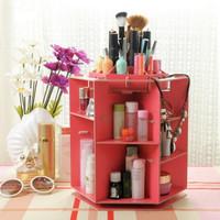 Desktop storage rotate kotak kuas make up rak kosmetik laris88