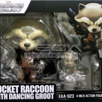 Guardians Of The Galaxy Egg Attack Rocket Raccoon With Dancing Groot