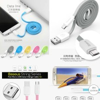 Baseus String Series Flat Micro USB Data Charger Cable Kabel Data 1m
