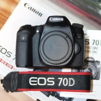 (READY Stock) CAMERA Dslr CANON Eos 70D + Lensa 18-55 Vr Kit