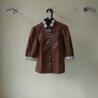 (NEW) kemeja wanita - COKLAT - pakaian wanita murah -